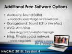 additional free software options