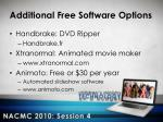 additional free software options1