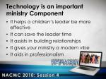 technology is an important ministry component