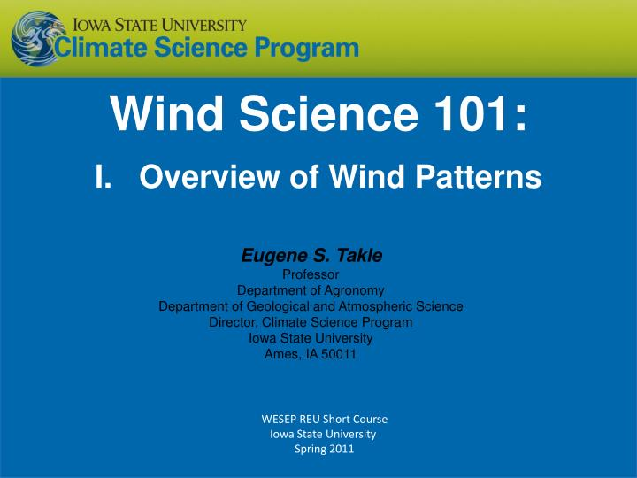 wind science 101 i overview of wind patterns n.