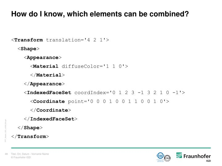 How do I know, which elements can be combined?