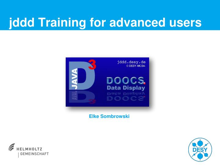 jddd training for advanced users n.