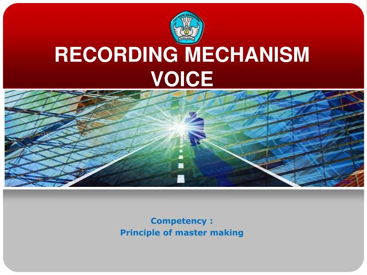 recording mechanism voice n.