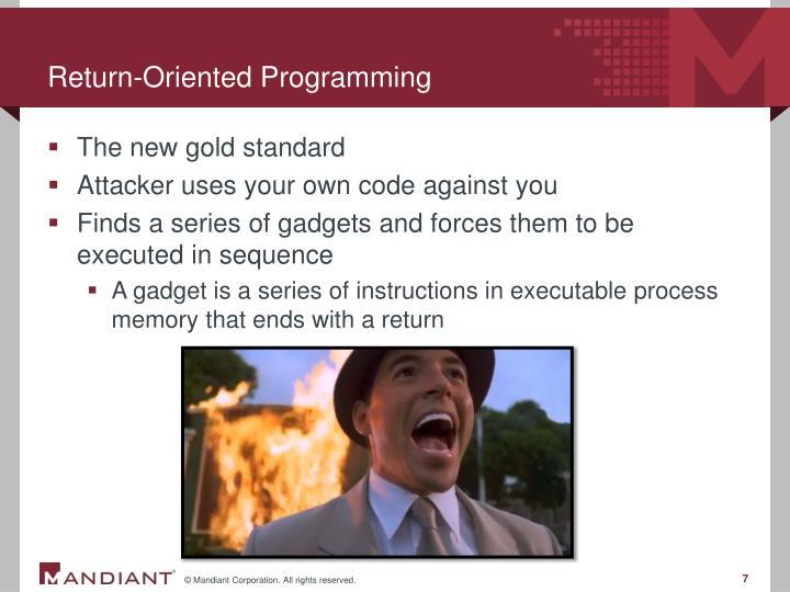 Return-Oriented Programming