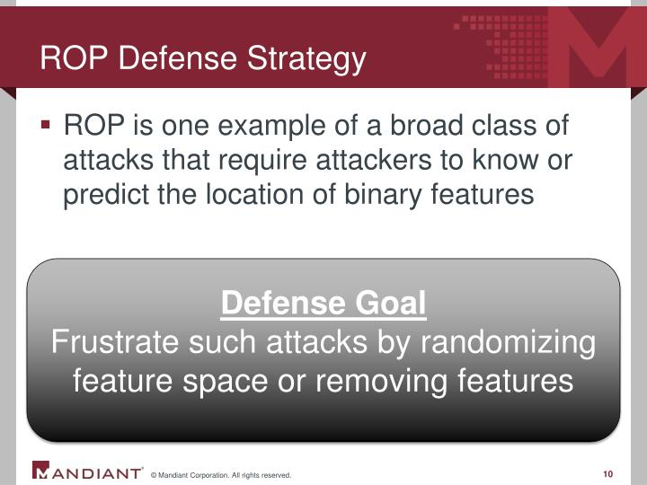 ROP Defense Strategy