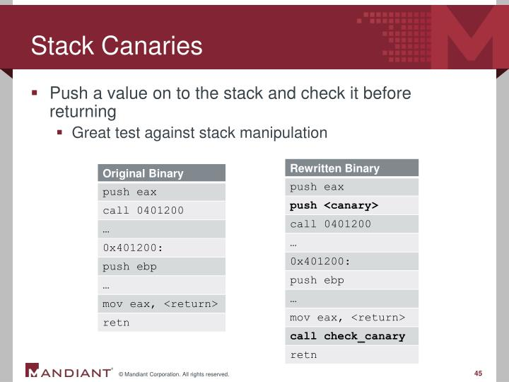 Stack Canaries