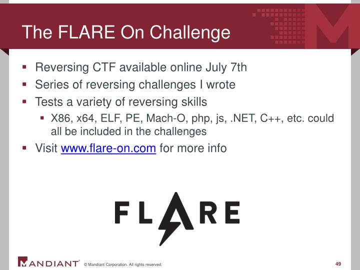The FLARE On Challenge