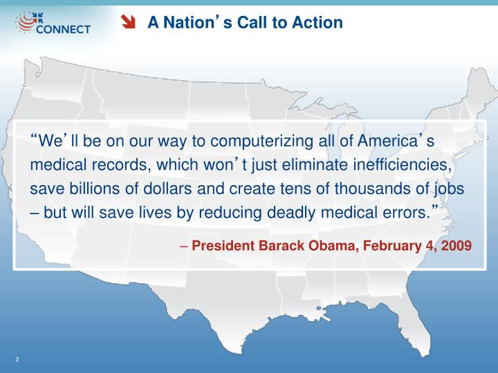A nation s call to action