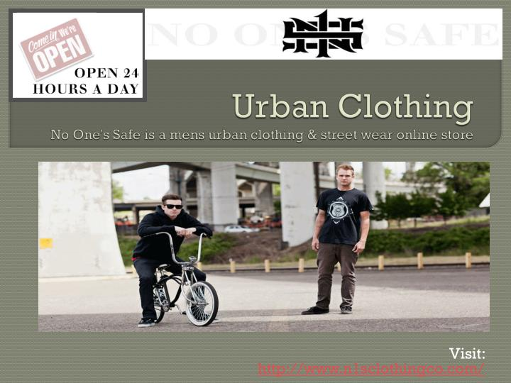 PPT - Urban Clothing No One's Safe is a mens urban clothing