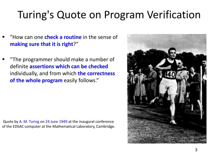 Turing s quote on program verification