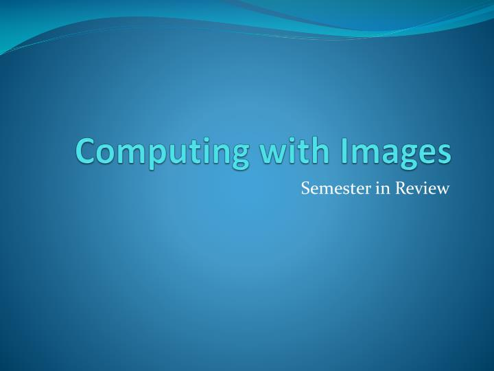 computing with images