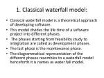 1 classical waterfall model