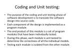 coding and unit testing