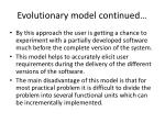 evolutionary model continued2