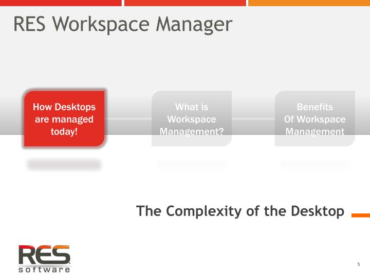 RES Workspace Manager