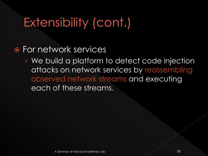 Extensibility (cont.)