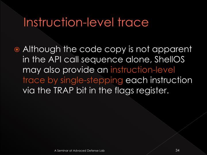 Instruction-level trace