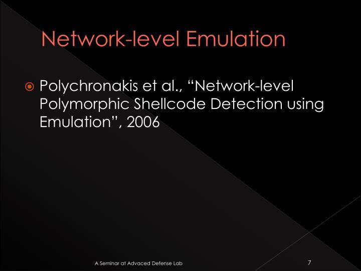 Network-level Emulation