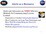 alerts as a resource