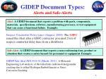 gidep document types alerts and safe alerts