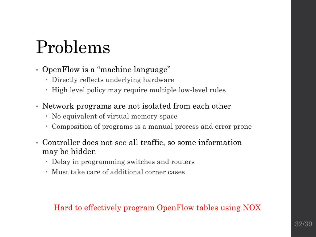 PPT - Software-Defined Networking: OpenFlow and Frenetic