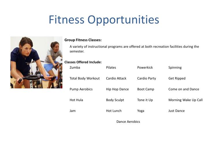 Fitness Opportunities