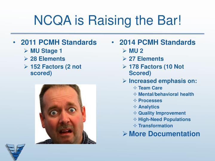 NCQA is Raising the Bar!