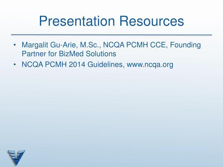 Presentation Resources
