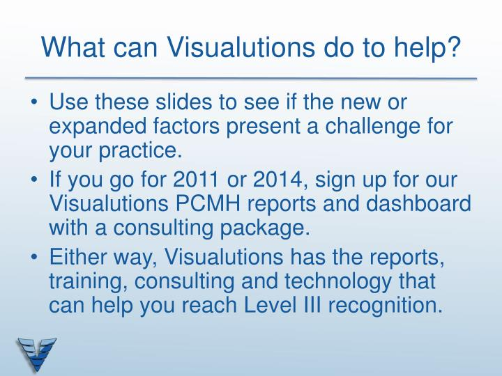 What can Visualutions do to help?