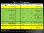 project status cont