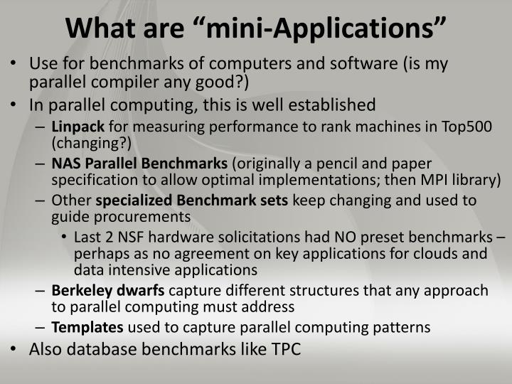 "What are ""mini-Applications"""