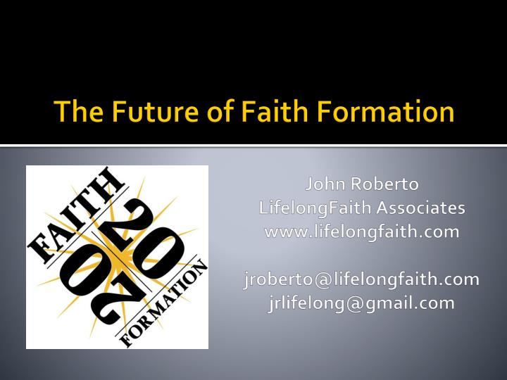 the future of faith formation n.