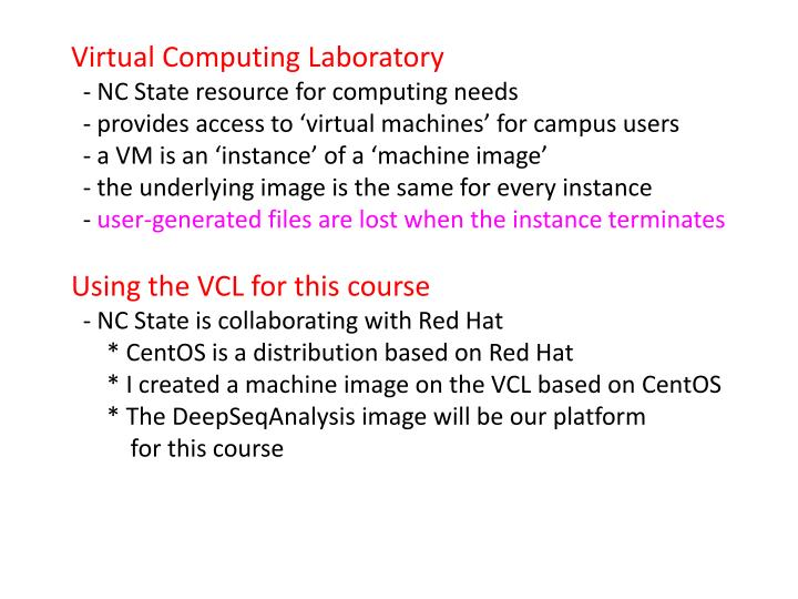 Virtual Computing Laboratory