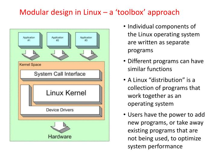 Modular design in Linux – a 'toolbox' approach