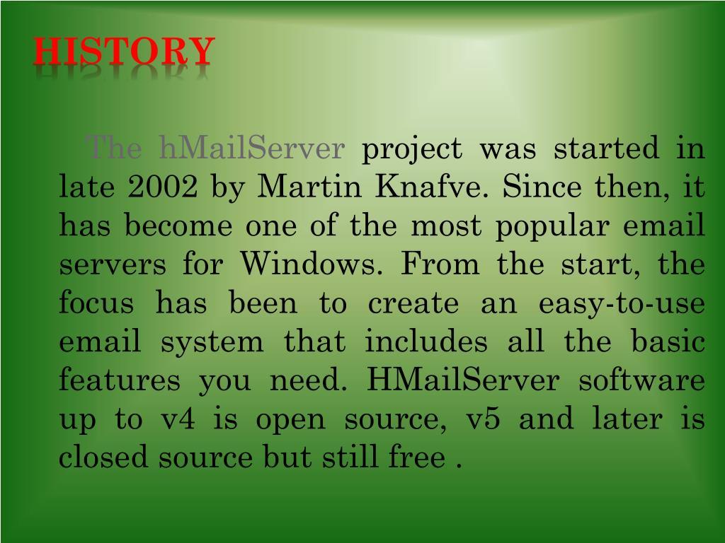 PPT - HmailServer PowerPoint Presentation - ID:1582870