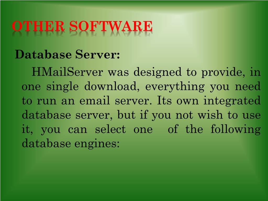 PPT - HmailServer PowerPoint Presentation - ID:1582870