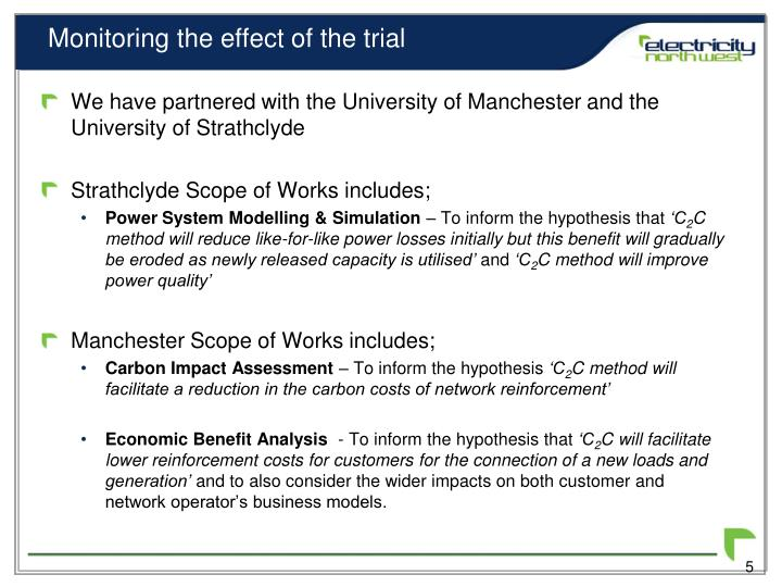 Monitoring the effect of the trial