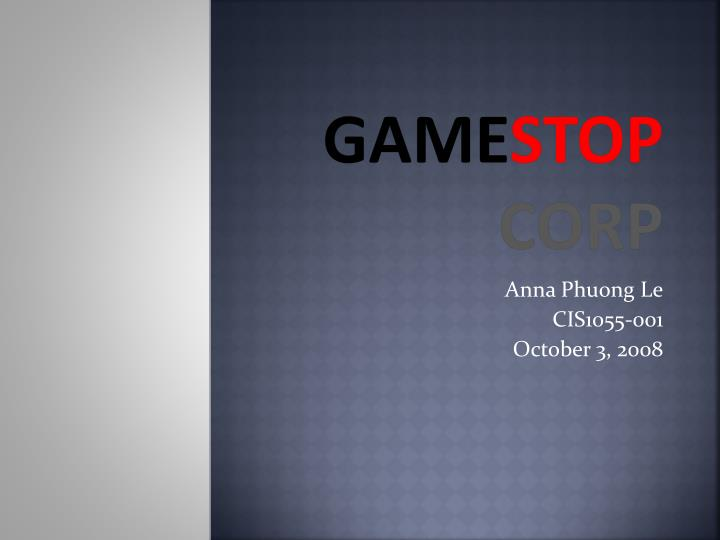 the history of game stop corporation essay Home free essays the history of video games there would be several less movies out there because there would be no video game franchises games in general are good because for the most part they cause a gamer to think fast and make those split second decisions about life or death.