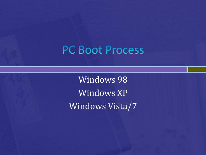 PC Boot Process