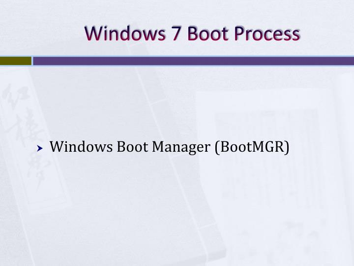 Windows 7 Boot Process