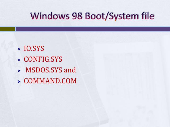 Windows 98 Boot/System file