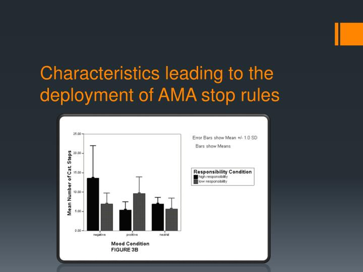 Characteristics leading to the deployment of AMA stop rules