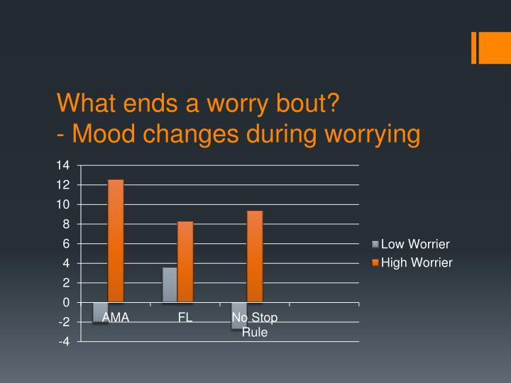 What ends a worry bout?