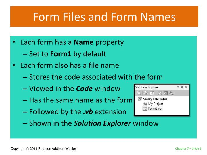 Form Files and Form Names