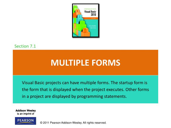 Multiple forms