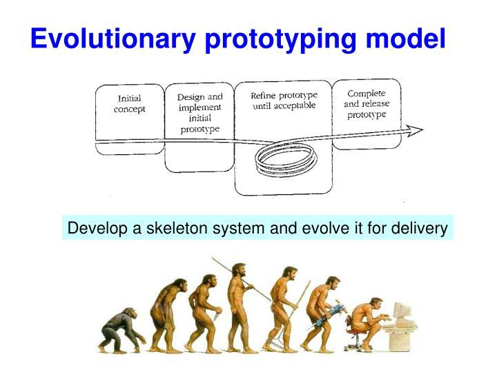 Evolutionary prototyping model