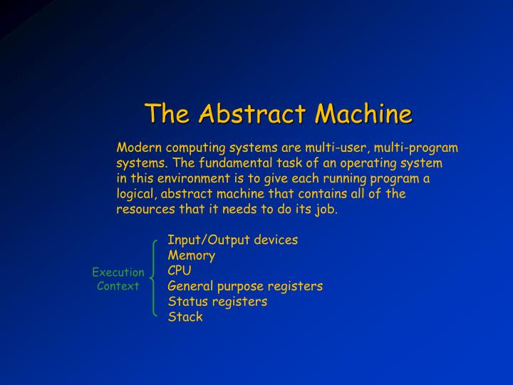 The Abstract Machine