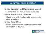 document familiarization