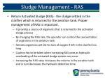 sludge management ras