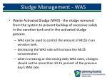 sludge management was